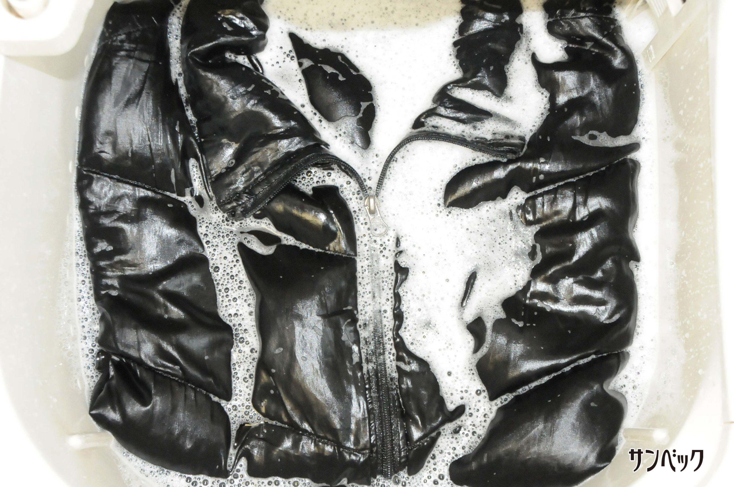 お家でできる黒の綿100%コートの洗濯